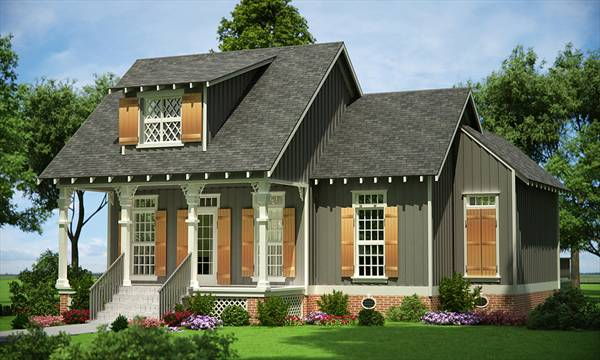 Front Rendering image of Rutherford house - 908 House Plan